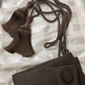 Curtains, shower curtain and tassel pullbacks